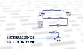 INTEGRACIÓN DE PRECIO UNITARIO
