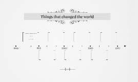 Things that changed the world