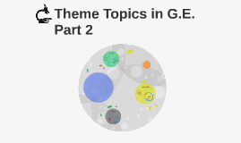Theme Topics in G.E.              Part 2