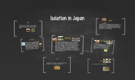 Isolation in Japan