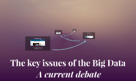 The key issues of the Big Data : A current debate