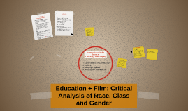 Education + Film: Critical Analysis of Race, Class and Gende