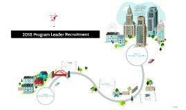 2018 Program Leader Recruitment