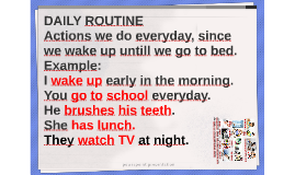 Daily routine and present simple