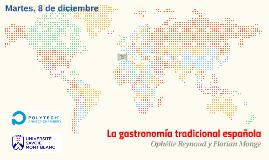 La gastronomía tradicional española