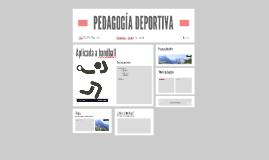 PEDAGOGÍA DEPORTIVA