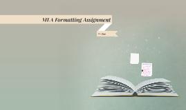 MLA Formatting Assignment