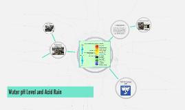 Water pH Level and Acid Rain