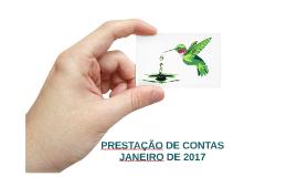 Prestação de Contas JANEIRO de 2017