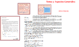 Tema 3: Aspectos Generales: