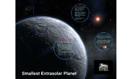 Smallest Extrasolar Planet