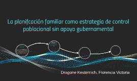La planifcación familiar como estrategia de control poblacio