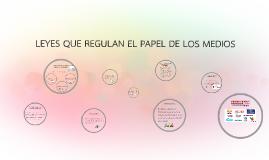 Copy of LEYES QUE REGULAN EL PAPEL DE LOS MEDIOS
