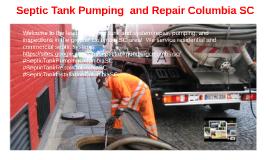 Septic Tank Pumping and Repair Columbia SC