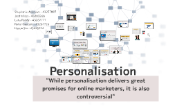 Copy of Personalisation