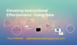 Elevating Instructional Effectiveness: Using Data