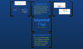 Independent T tests