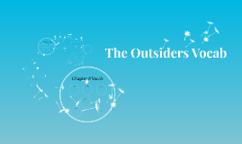 Copy of The Outsiders Vocab