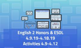 English 2 Honors & ESOL