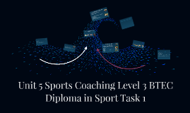 Copy of Unit 5 Sports Coaching Level 3 BTEC Diploma in Sport Task 1