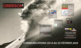 COMMUNICATION DU 8 AU 15 FÉVRIER 2019