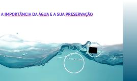 A IMPORTÂNCIA DA ÁGUA E SUA PRESERVAÇÃO