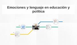 Copy of Emociones y lenguaje en educación y política