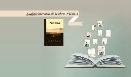 Analisis literario de la obra  NIEBLA