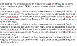 En Facebook ha sido publicado un impactante video en el que