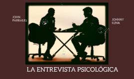 Copy of LA ENTREVISTA PSICODIAGNOSTICO