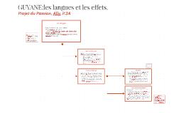 GUYANE:les langues et les effets.