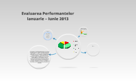 Evaluarea Performantelor