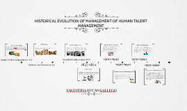 HISTORICAL EVOLUTION OF MANAGEMENT OF HUMAN TALENT MANAGEMEN
