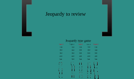 Copy of Jeopardy type prezi