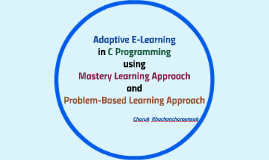 Adaptive E-Learning in C Programming