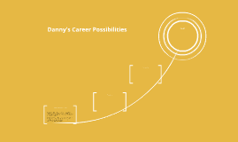 Danny's Career Possibilities
