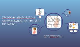 TECNICAS ANALGESICAS NEUROAXIALES EN TRABAJO DE PARTO