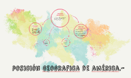 posición geografia de américa.-