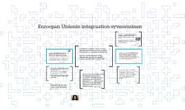 Euroopan Unionin integraation syveneminen