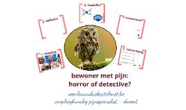 bewoners met pijn: een horror of detective?