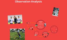 Observation Analysis