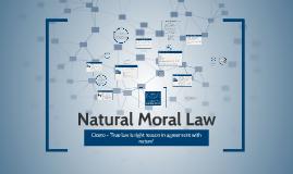 Natural Moral Law