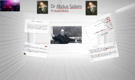 Dr Abdus Salam