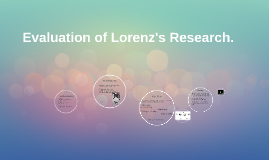 Evaluation of Lorenz's Research.