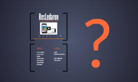 ResLedaren, from idea to startup