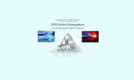 2016 Iceland Symposium
