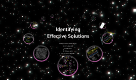Identifying Effective Solutions