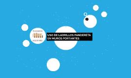 USO DE LADRILLOS PANDER