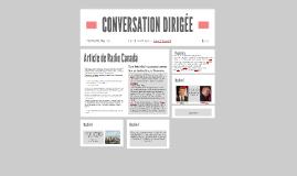 CONVERSATION DIRIGÉE