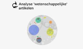 Analyse 'wetenschappelijke' artikelen